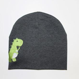 """Детская шапка с вышивкой """"Dino"""""""