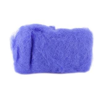 Шерсть для валяния кардочесанная 20 г (К6017), гортензия голубая