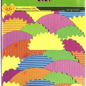 Картон кольоровий дитячий для виробів А4 ZiBi Гофра 6л, 6кол ZB1970