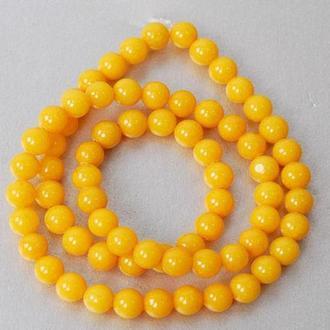 Бусины халцедоновые Margo, 6мм, 65 шт., Желтые 801583