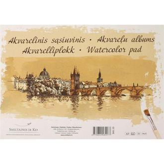 Бумага-склейка для акварели Smiltainis Gold А3 29,7*42см 200г/м 10л. 3AS-10