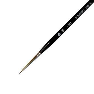 Кисть Черная Речка, Колонок, круглая №3-0 короткая лаковая ручка ХУМ-1001103/0
