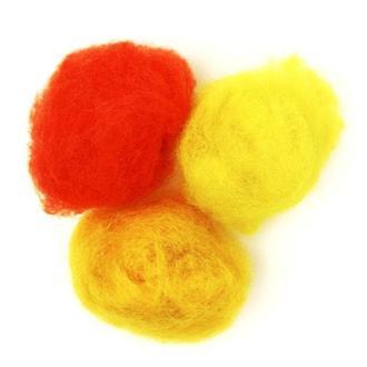 Набор шерсти для валяния кардочесанной Желтые оттенки 3 цв.*10 г Rosa Talent 1203368