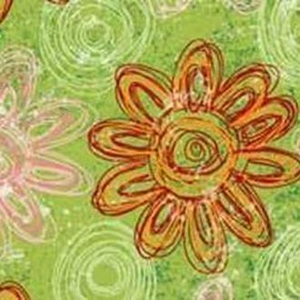 Калька URSUS А4 Парадис 115г Крупные цветочки Зеленый UR-77284604R