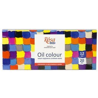 Краска масляная Rosa Studio набор 12цв. по 20мл 131007