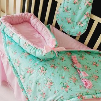 Комплект из 3х единиц: детское одеяло-конверт, гнездышко и спальный мешочек Shabby Chic