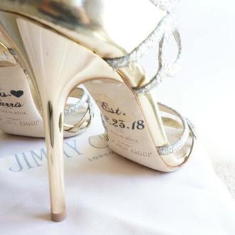 Надписи на обувь. Наклейки для обуви невесты. Персонализация.