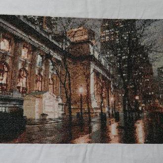 картина крестиком Ночной город
