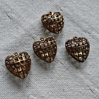 підвіски Серце-Клітка, 2 шт.