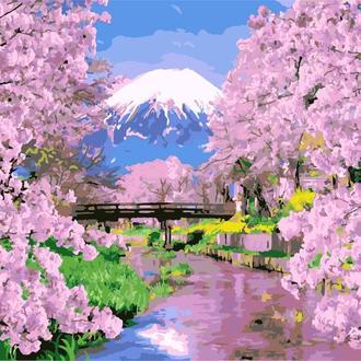 Картина по номерам 40х50 Цветение сакуры (GX9506)
