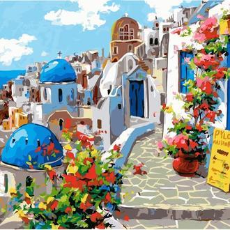 Картина по номерам 40х50 Весна на Санторини (GX22383)