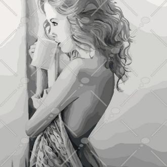 Картина по номерам Наедине с мечтами, 40x50 (КНО4545)