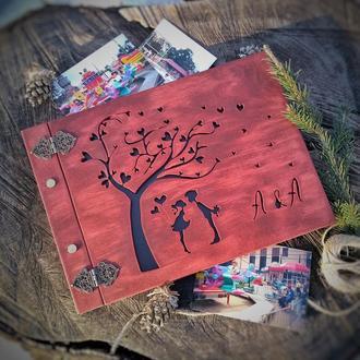 Альбом для фото із дерева |Фотоальбомы , семейные свадебные альбомы, подарок на свадьбу