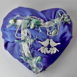 Синее сердце подарок влюблённым