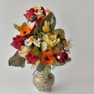 Интерьерная композиция в вазочке на подарок