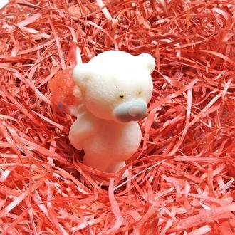"""Мыло """"Медвежонок с букетом"""" белое"""