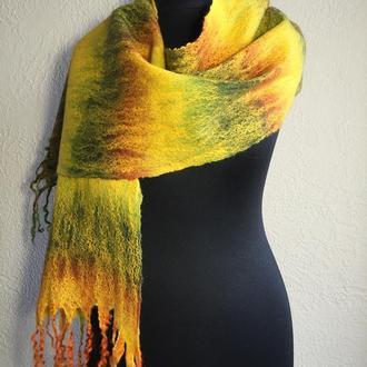 "Палантин - шарф ""Теплая осень"""