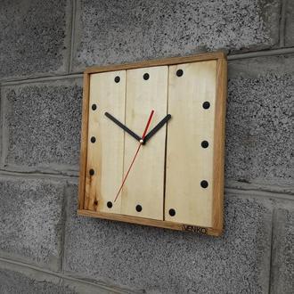 Настенные часы из белого дерева, промышленные настенные часы, уникальные настенные часы