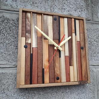 Настенные часы из многих пород дерева, промышленные настенные часы, уникальные настенные часы