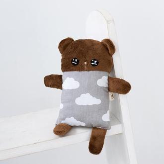 Мишка плюшевый серый в облаках ,мягкая игрушка ,подарок для детей