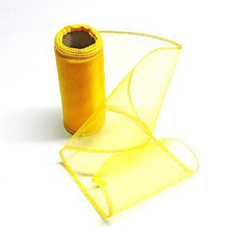 Органза 12см жёлтая