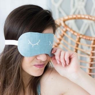 Льняная маска для сна