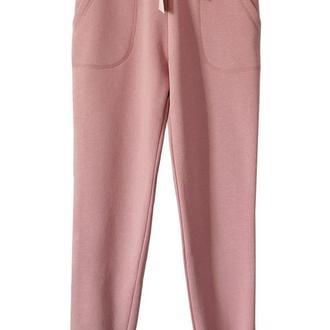 Пудровые брюки с широкой лентой, размер XS