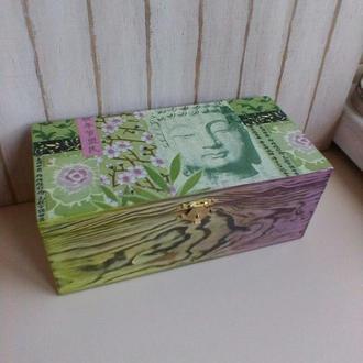 """Коробка для чайных пакетиков """"Сакура"""""""