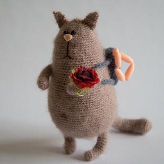 Интерьерная игрушка Кот романтик