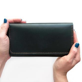 Кожаный кошелек В5 (зеленый)