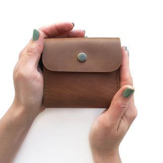 Шкіряний гаманець MINI коньячного кольору