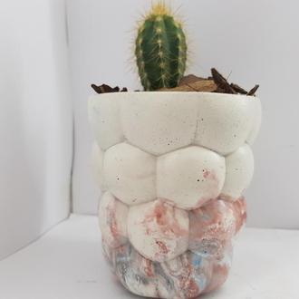 Бетонный кашпо, бетонный кашпо для цветов, бетонный кашпо для кактусов - мультицвет 4