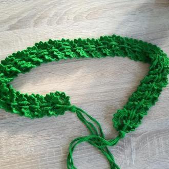 Пояс вязаний