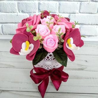"""Сувенирное мыло """"Розы и орхидеи"""""""