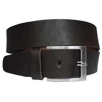 Ремень кожаный мужской темно-коричневый широкий под джинсы 4,5см Solid