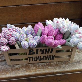 «Вечные тюльпаны» Текстильные тюльпаны