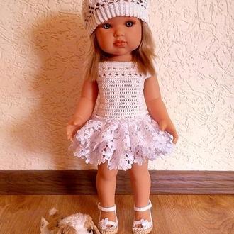 Вязанный комплект на куклу Антонио Хуан 45 см