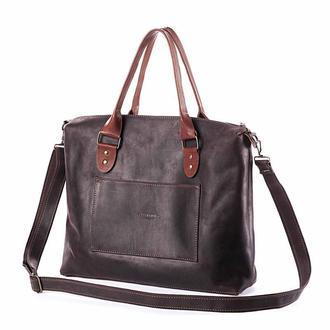 Портфель-сумка Коричневый Tote-zip