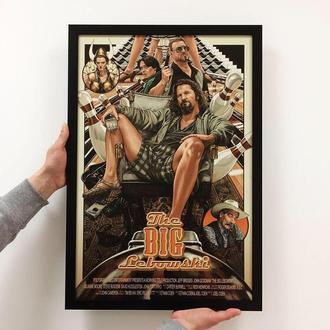 """Постер на ПВХ 3 мм. в рамке """"Большой Лебовски"""""""