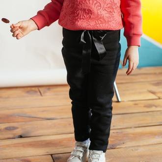 Детские черные трикотажные брюки