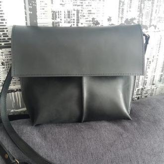 Шкіряний клатч. Шкіряна сумка. Дизайнерський клатч. Натуральна шкіра (Італія)