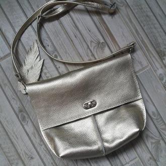 Кожаный клатч. Кожаная сумка. Женская сумка. Натуральная кожа (Италия)