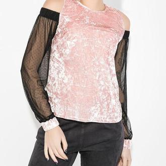 Шикарнейшая необычная бархатная блузка