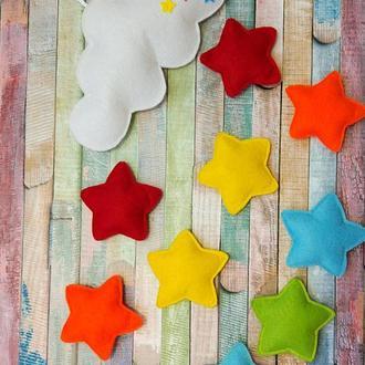 Фетровый мобиль в детскую кроватку Bright Stars