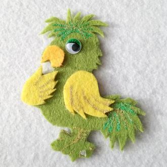 Нашивка с фетра Попугай