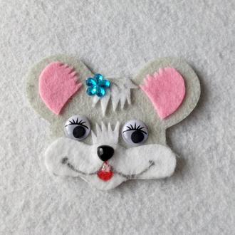 Нашивка с фетра мышонок