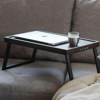 Столик для ноутбука 13-15 дюймов. Подставка для ноута. Поднос на ножках.