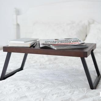 Столик на ножках для ноутбука из натурального дерева