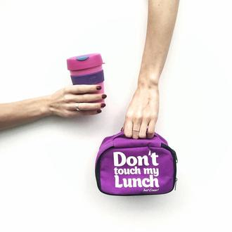 "Термо-сумка для ланча ""Ланч бэг ""Don't touch my lunch"", фиолетовый mini"
