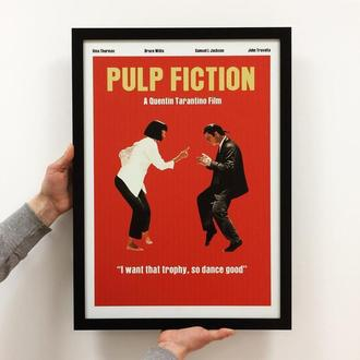"""Постер на ПВХ 3 мм. в рамке """"Криминальное чтиво (Танец)"""" (Pulp Fiction Dance)"""